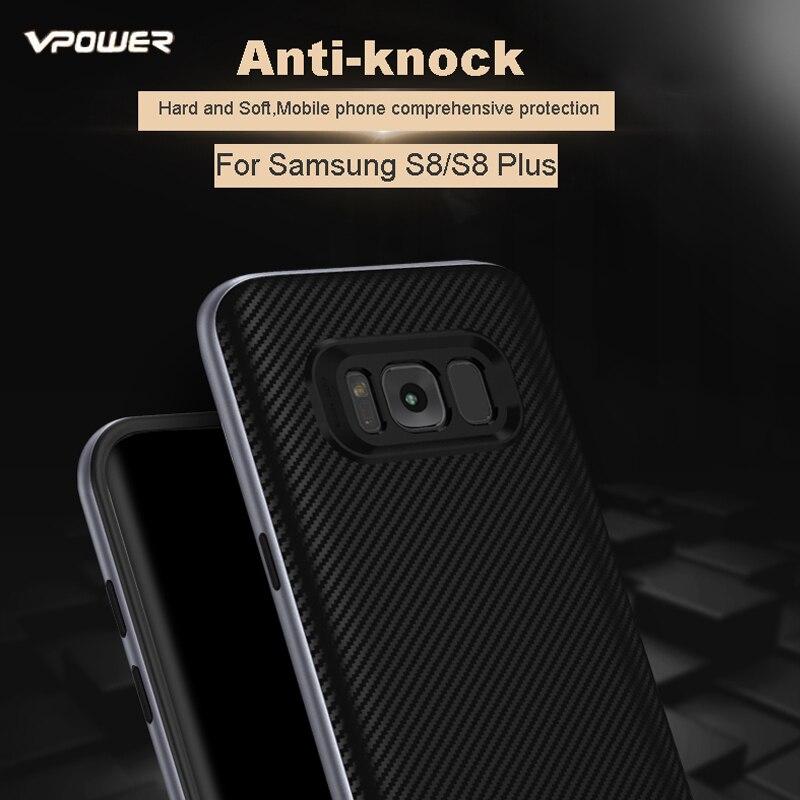 För Samsung Galaxy S8 / S8 Plus / S7 Edge Case Vpower Luxury Hybrid - Reservdelar och tillbehör för mobiltelefoner - Foto 2