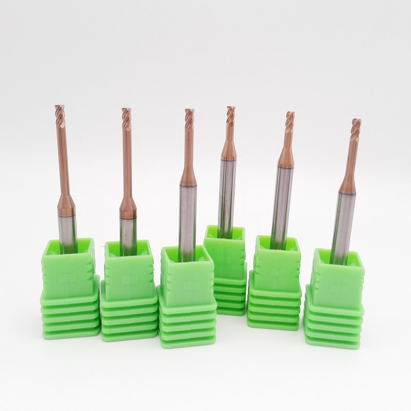 CNC Carbide Deep Slot Milling Mold Steel Long Neck Coated End Mill Milling Cutting Copper And Aluminum Alloy Tools