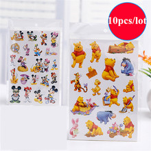 (10 pcs/lot) TV movie Cartoon paper sticker kids girls boys baby toy children's Desk Wall laptop NoteBook remark Stickers toys
