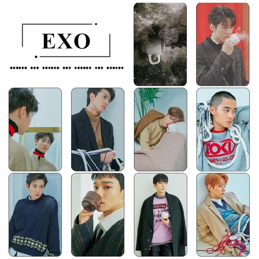 KPOP EXO Universe Crystal Card Sticker BAEKHYUN CHEN Sticky Photocard Poster 10pcs Set