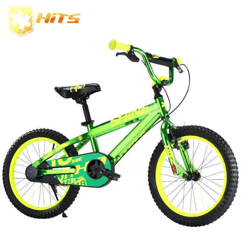 HITS Shine 12 pouces enfants vélo enfant vélo cyclisme enfant vert enfants vélo avec roues de Traning Fit 1-5 ans enfants