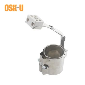 Calentador eléctrico de cerámica de 50mm de diámetro interior 50/55/60mm de altura calentador de banda de acero inoxidable para maquinaria de plástico