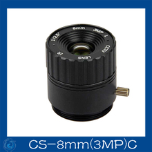 cctv camera lens 8mm Fixed Iris lens, 1/2.5 cs Mount  Fixed F1.6  for Security Camera.CS-8mm(3MP)C