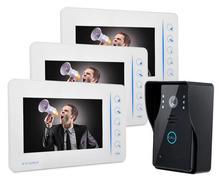 """7 """"Teclado Táctil Videoportero De Intercomunicación Sistema de $ NUMBER CANALES de Entrada de Vídeo $ NUMBER CANAL de Salida de Vídeo 1.3 Mega Píxeles de Cámara de La Puerta timbre de la puerta"""