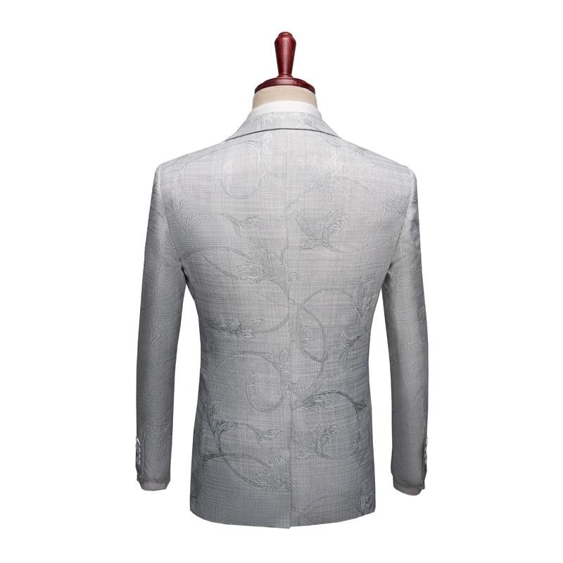 Occasionnels Hiver Gilet Homme Automne Pantalon Ciel Affaires Fit Hommes veste xxxl De blanc Slim 2019 Luxe Floral Costumes Pu Mariage Nouveau L 7OXwqd