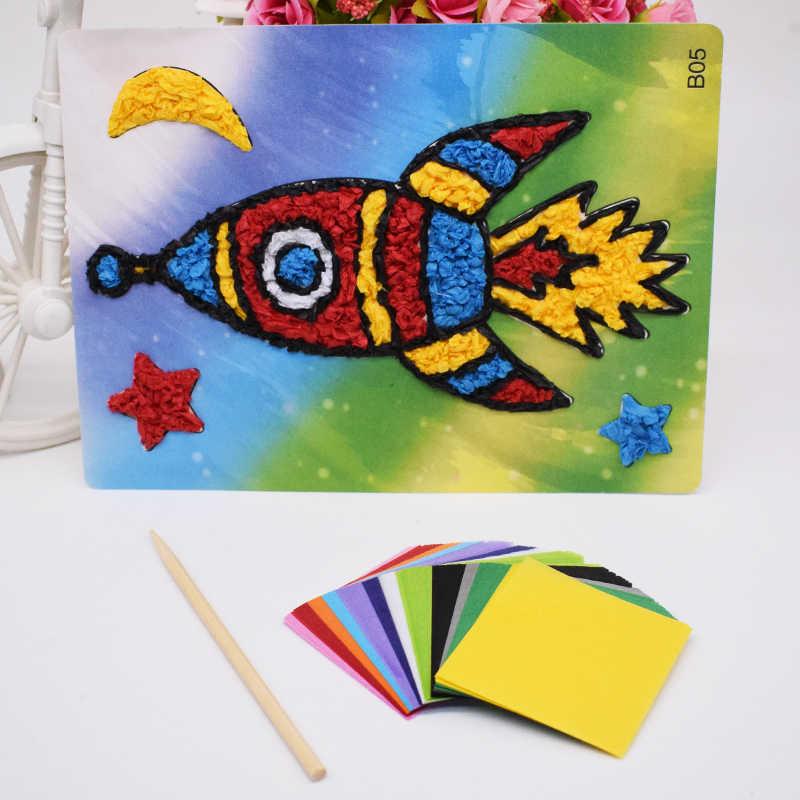 DIY Crafts Material Toys For Children Kids Kindergarten Felt Paper Diy  Rocket Handicraft For Girl Handmade Arts Gift Wholesale