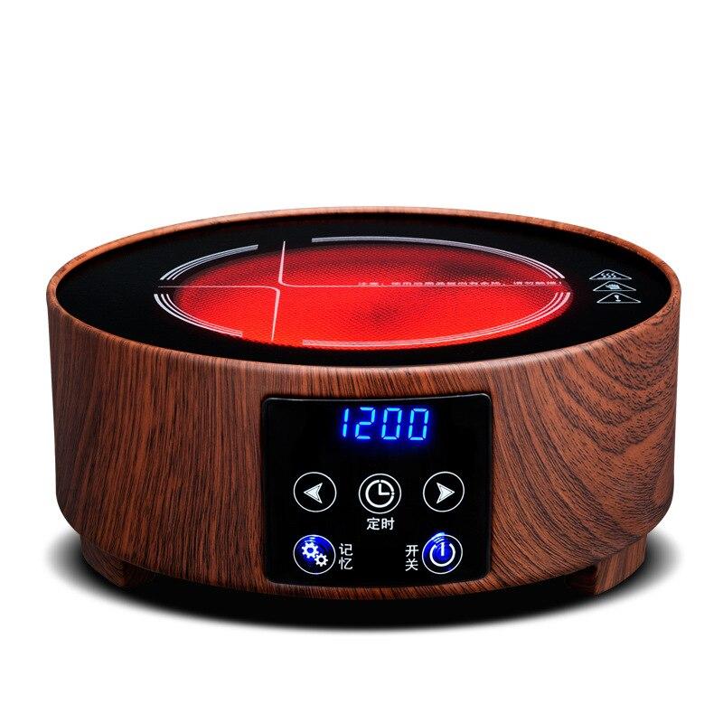 AC220 240V 50 60hz mini fogão cerâmico elétrico fervente chá aquecimento café 1200w power 6 arquivos podem cronometrar 3 horas - 2