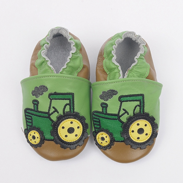 New Baby leather shoes boy cute tractor car shoes soft ...