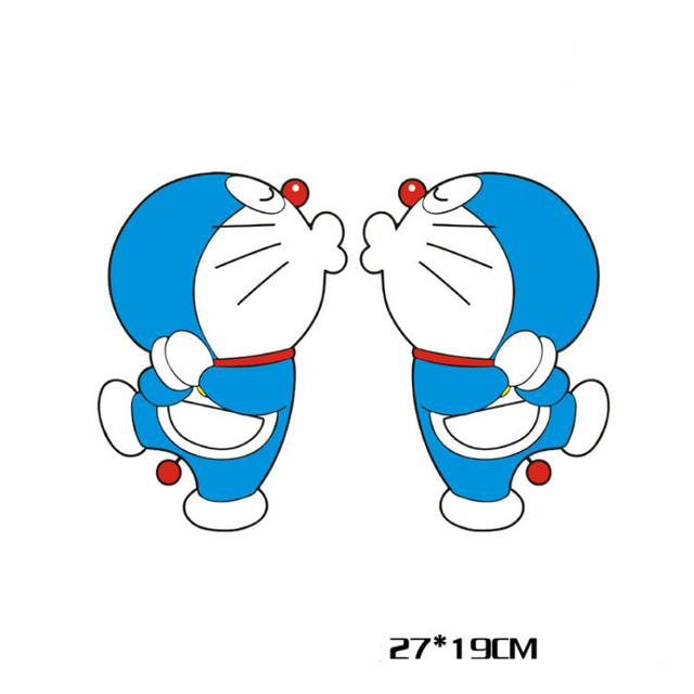 Volkrays  X Car Accessories Cartoon Cute Doraemon Kiss Stickers
