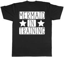 Mermaid in Train Womens Ladies Unisex T-Shirt MenS T-Shirts Summer Style Fashion Swag Men T Shirts.