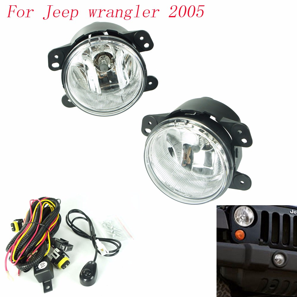 CNSPEED Fog light for Jeep wrangler 2005 fog lamps Clear Lens Bumper Fog Lights Driving Lamps/Daytime Running light TT100588 free shipping 10pcs 100% new lmv934ma