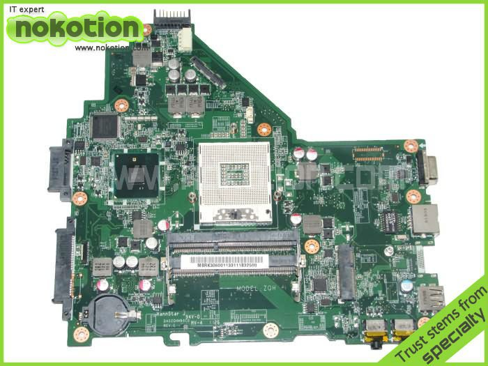 NOKOTION laptop motherboard for ACER 4339 series DA0ZQHMB6C0 INTEL HM55 GMA HD DDR3 Mother board free shipping laptop motherboard for hp envy15 720565 501 w8std hm87 gma hd5000 ddr3 intel mother board 100