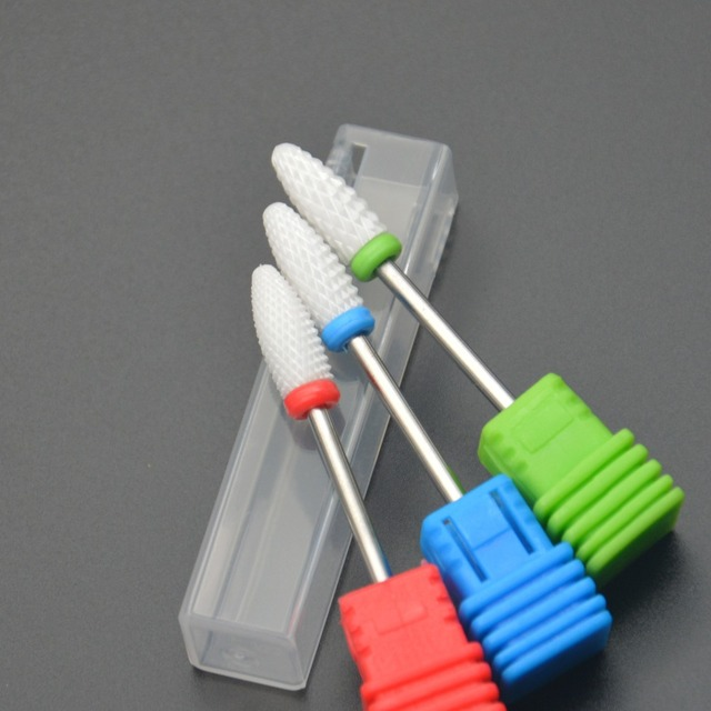 ViiNuro 1pcs Ceramic Nail Drill Bits Electric Nail file Mill Cutter For Manicure Pedicure Nail Drill Machine Accessories Tools