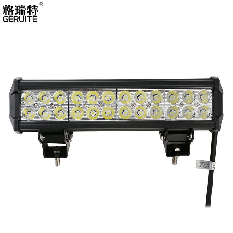 2017 72W LED Work Light Bar for Indicators Motorcycle Driving Offroad Boat Car Tractor Truck SUV ATV Flood 12V 48w led work light for indicators motorcycle driving offroad boat car tractor truck 4x4 suv atv flood 12v 24v