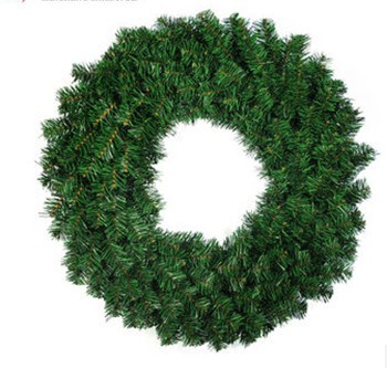 050752 Christmas decorative products green pine wreaths Home Furnishing hotel door hanging free shipping