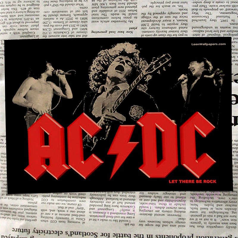 Image 4 - acdc poster .Australian/rock band ACDC/Malcolm/Angus.Kraft Paper VintagePoster Vintage  Wall Sticker/6001-in Wall Stickers from Home & Garden
