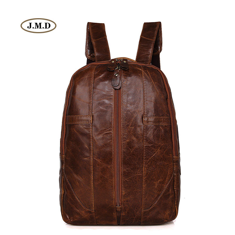 J.M.D New Style High Quality Genuine Leather Backpack Causal Travel Rucksack Fashion Unique Design Laptop Bag 7244B/J
