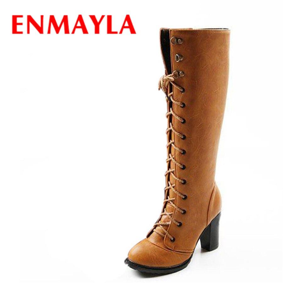 bottes avec lacets genou haute promotion-achetez des bottes avec