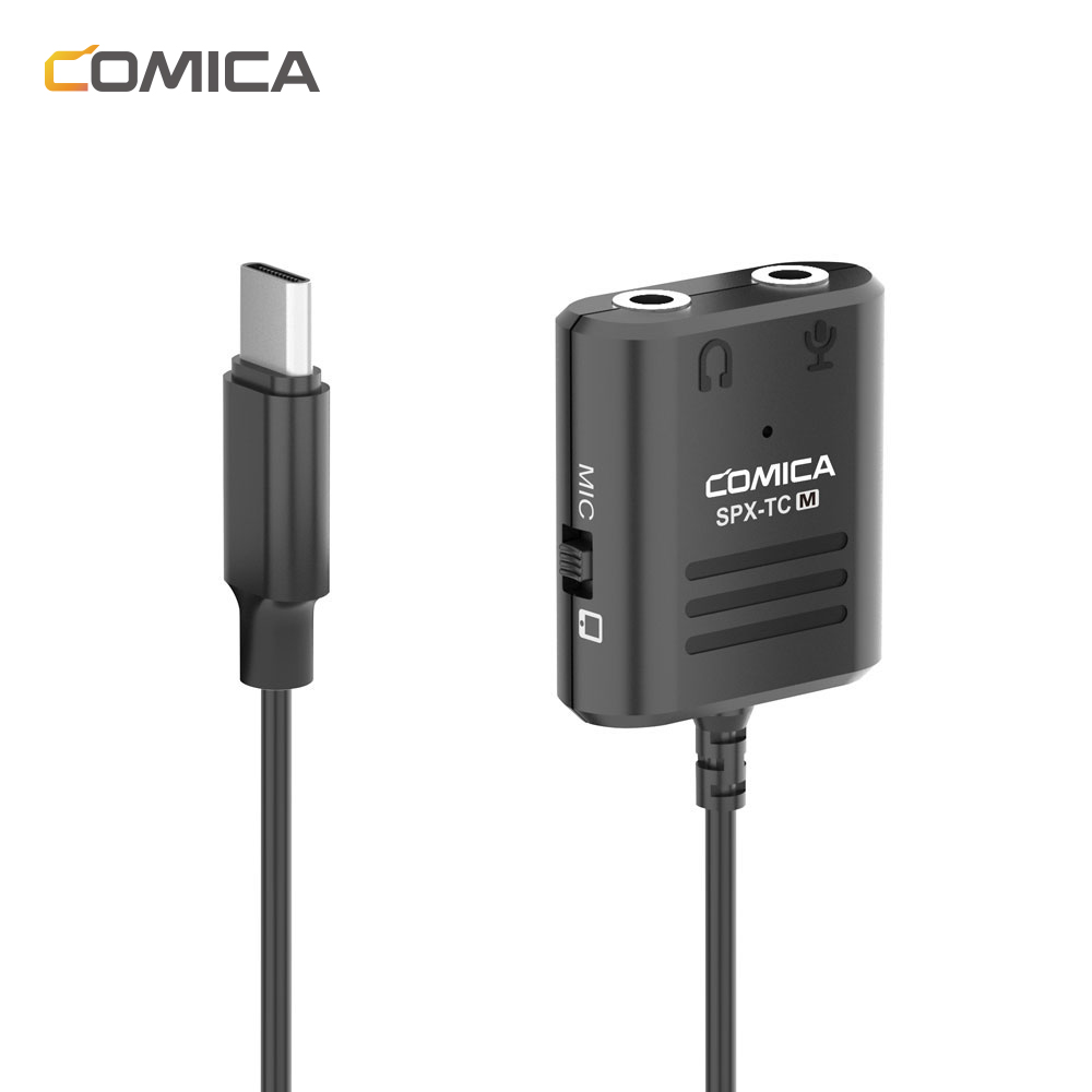 Comica SPX-TC Multi-Functional 3.5mm TRS &TRRS To USB TYPE-C Audio Cable Adapter For Huawei/Samsung/HTC Smartphone
