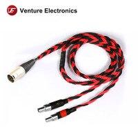 Venture Electronics Basic Black litz HD800 hd8xx 2.5mm 4.4mm balanced headphone cable