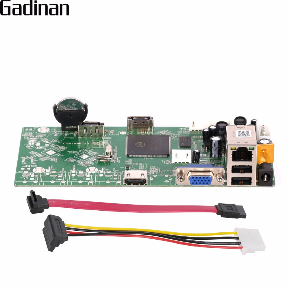 GADINAN NVR Carte Principale Réseau Vidéo Enregistreur 16CH 1080 P/4CH 5MP Onvif P2P Nuage XMEYE CMS Détection de Mouvement NBD7816R-F-V2