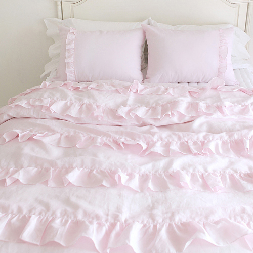 Aliexpress Textile Beautiful Pink Lace Ruffled Comforter. Ruffle Duvet Cover Twin   The Duvets