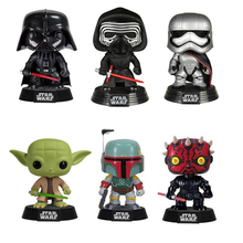 цена на Star War Characters with bobble Head Bob Fett Darth Vader YODA 10cm Vinyl Action Figure Toys