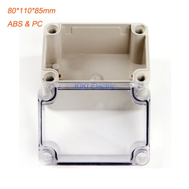 Outdoor Waterproof 80*110*85mm  IP66 Plastic Box ABS PC Transparent Cover enclosure use as junction box for project DS-AT-0811-1