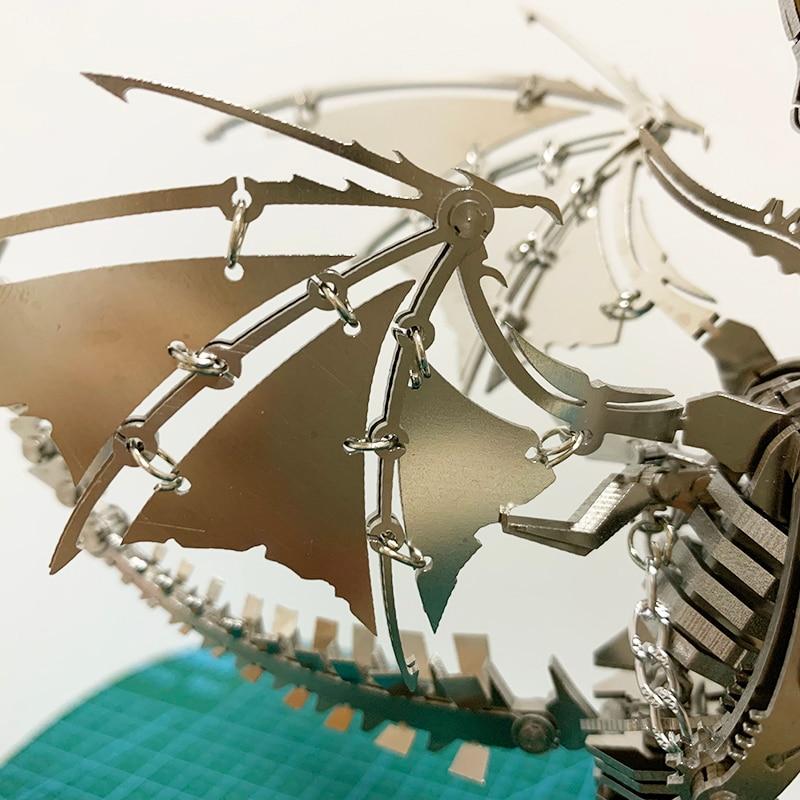 Дрон насекомое 3D стальная металлическая отделка DIY шарнир подвижность набор миниатюрных моделей головоломки игрушки хобби для мальчиков с... - 4