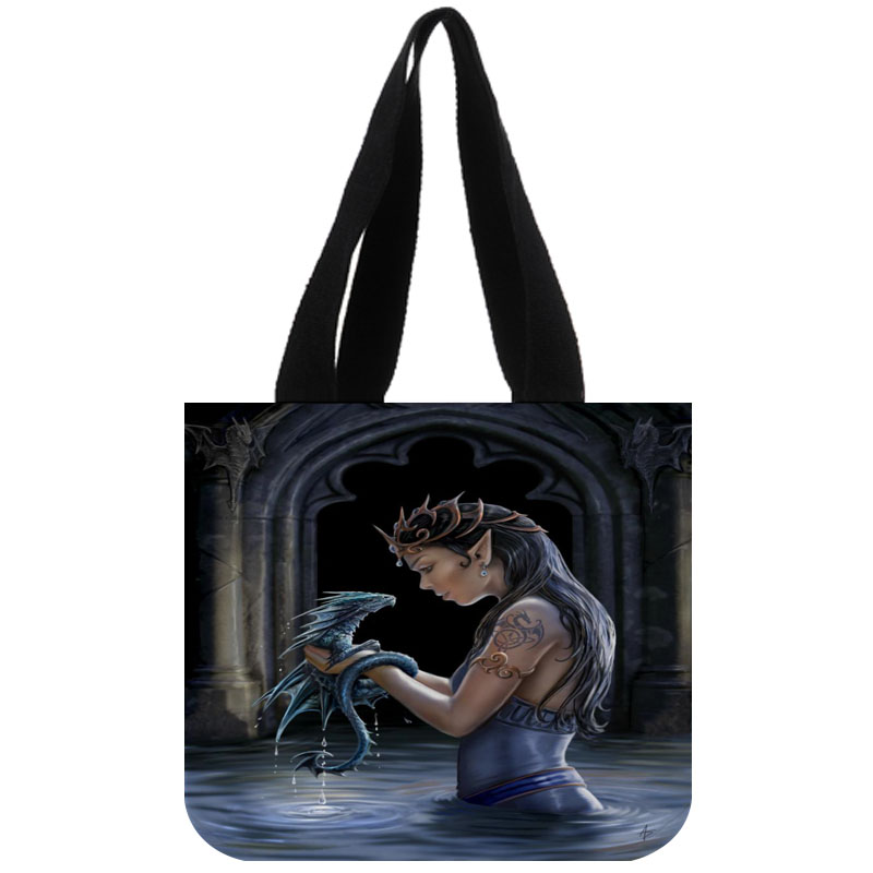 Tote Bag Cotton Canvas Custom anne stokes Shopping Foldable Reusable Shoulder Customized With Own Logo Wholesale tote bag