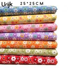 Urijk 7PCs Mixed Sunflower Cotton Fabrics For Patchwork Cloth DIY Handmade Sewing Home Decor Material Cheap Fabric 25x25cm(China)