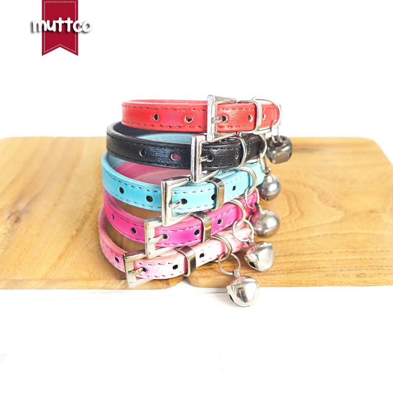 100 pcs/lot creative solid-colored metal button dog collars humanized beefy 2sizes and 5colors dog collar with small bell CS057S