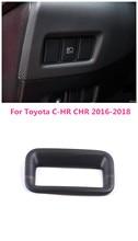 Автомобильный Стайлинг АБС интерьерная головка света переключатели фар панель Крышка отделка 1 шт. левый руль для Toyota C-HR CHR 2016-2018