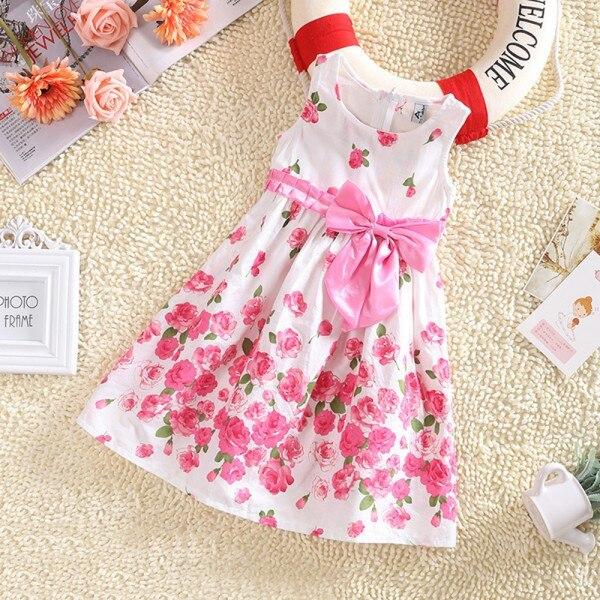 цветочное платье для девочки фото