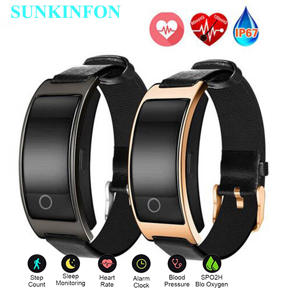 Smart Wristband Blood Pressure Heart Rate Monitor Pedometer Wrist Watch Fitness Bracelet Tracker for Samsung Galaxy S8 / S8 Plus