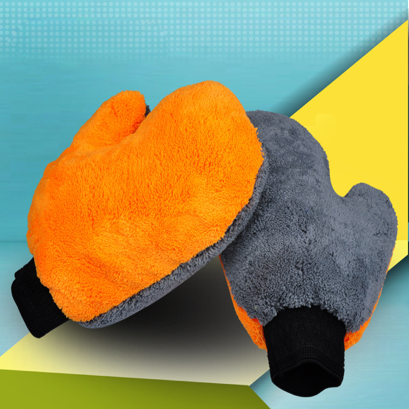 Image 5 - 1PCS car wash gloves thick microfiber car motorcycle cleaning supplies strong absorbent brush detailing tool towel-in Sponges, Cloths & Brushes from Automobiles & Motorcycles