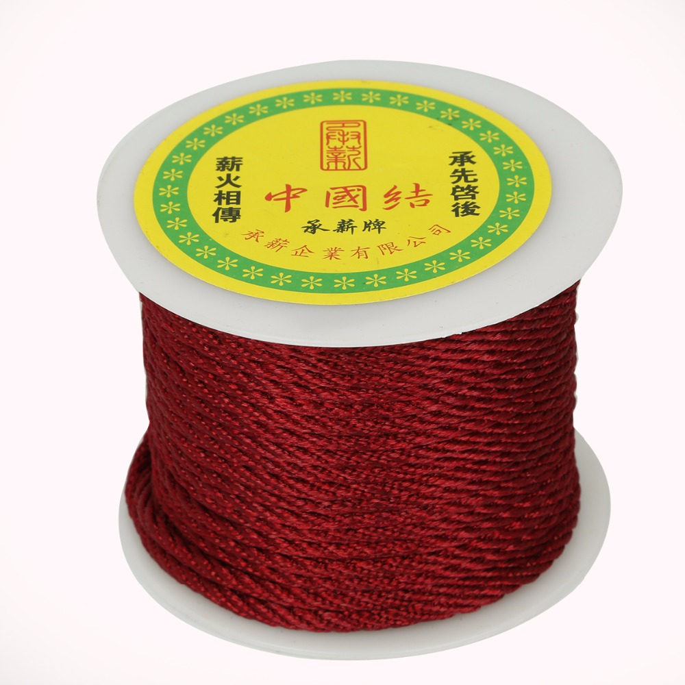 3mm 27 Yards/roll Nylon Cords Chinese Knot Cords Silky Beading Braided String Thread For Jewelry Making Necklace DIY Craft
