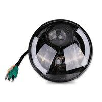 7 Inch Round Led Headlight Motorcycle Led Headlamp 7 Projector Halo Angel Eye DRL Turn Signal