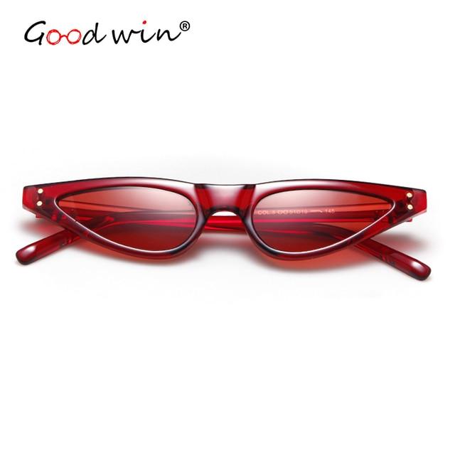 ca6c150e7 GOOD WIN Super Small Cat Eye Sunglasses Retro 90s Stylish Triangle Chic Sun  Glasses Rivets Black White Red 2018 Hot Point Ladies