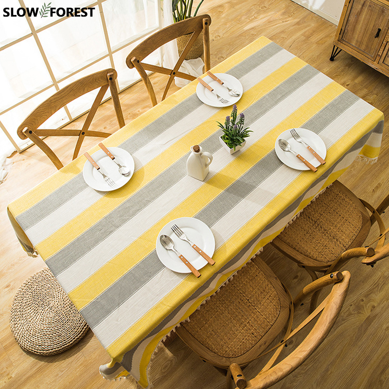 Slow Forest Rectangular Tablecloth Home Waterproof Table