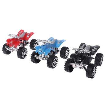 Motocicleta de playa de 4 ruedas, vehículo, Motocross, retroceso, Mini inercia, simulación de modelo, juguete educativo para niños, regalos de navidad