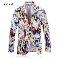 New Fashion Tide Printing Casual Suit Men S Fashion Blazers Jacket Hairstylist Nightclub Clothing Singer Stage