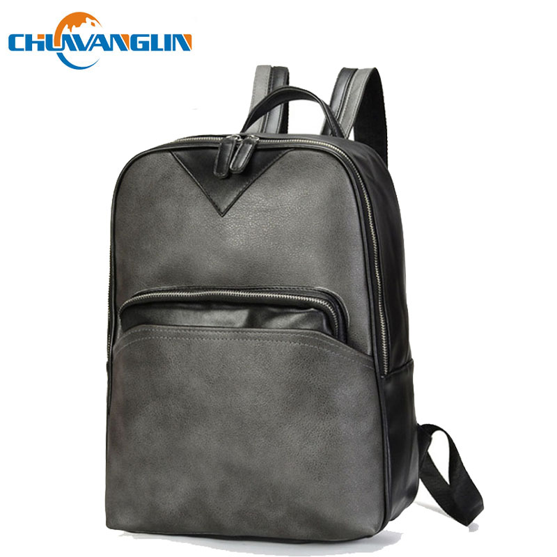 eafca665bdb3 Chuwanglin New leather backpacks fashion male backpack simple school bags  14 inch Laptop bag mochilas mujer 2018 A50201
