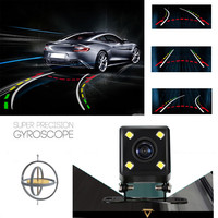 Car Rear View Camera 4 LED Night Vision With Steering Dynamic Guided Parking Line Back Len