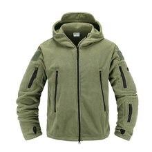 Taktik polar ceket askeri üniforma yumuşak kabuk rahat kapşonlu ceket erkekler termal ordu giyim