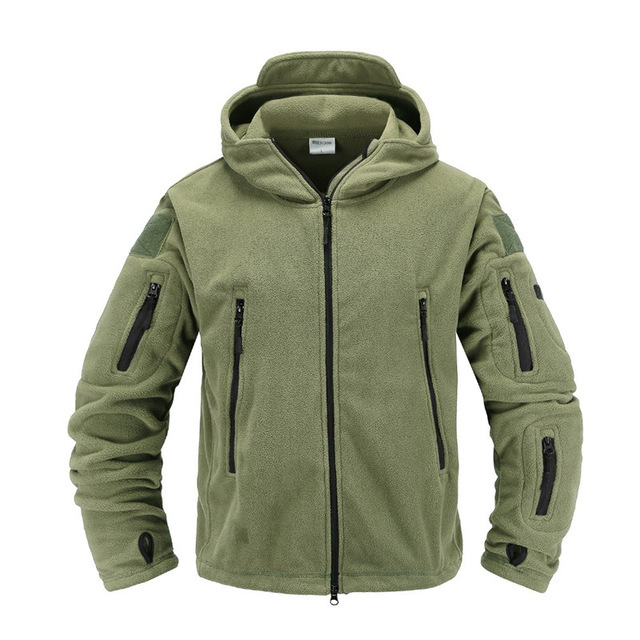 Tactical fleece jacket Military Uniform Soft Shell Casual Hooded Jacket Men Thermal army Clothing