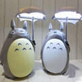 Kawaii dibujos animados mi vecino Totoro lámpara noche de luz led ABS lectura mesa lámparas de escritorio para niños decoración del hogar regalo de la novedad iluminaciones