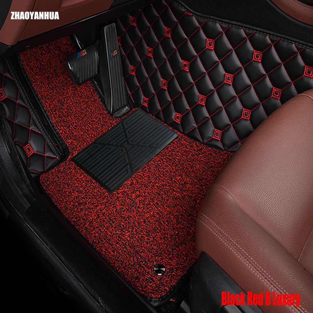 ZHAOYANHUA الحصير سيارة ل إنفينيتي ESQ نيسان جوك اكسسوارات 5D سيارة التصميم الثقيلة السجاد السجاد قضية liners (2014-