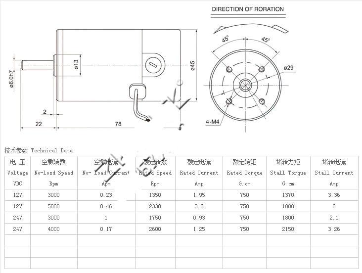 Dc Zytd 45srz R 12v 24v 45mm Dia Micro Adjustable Speed Motor