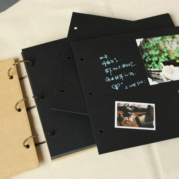 A4 ring binder Photo Album Kraft scrapbook Wedding Album Scrapbook - where to buy wedding guest books